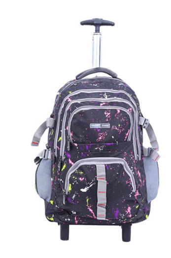 PARA JOHN Back to School 2 Wheel Trolley Back Pack