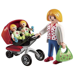 Play Mobil toys City Life Mother With Twin Stroller