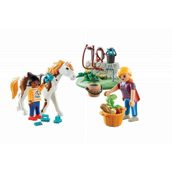 Play Mobil toys Playmobil Horse Grooming Carry Case (34 Pieces)