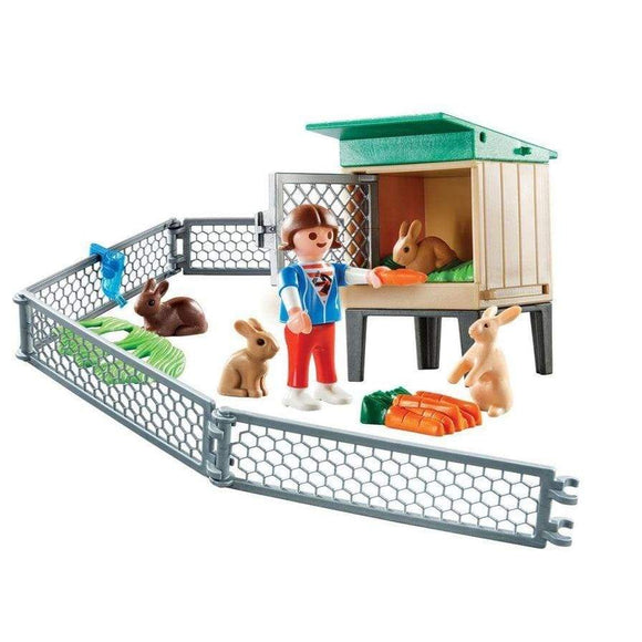 Playmobil Toy Country Bunny Barn Carry Case