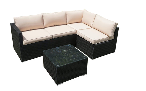 ProCamp Outdoor ProCamp OLIVER 5PC ALU RATTAN SOFA SET