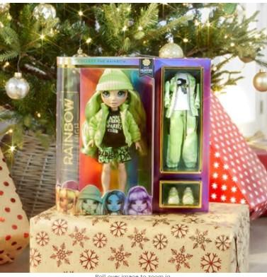 Rainbow Surprise Toys Rainbow Surprise Rainbow High Jade Hunter - Green Clothes Fashion Doll with 2 Complete Mix & Match Outfits and Accessories, Toys for Kids 4 to 15 Years Old
