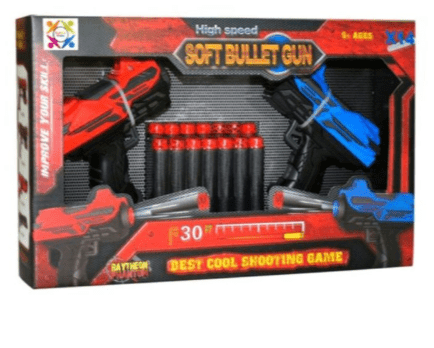 ROLL UP KIDS Toys 14-Piece High Speed Bullet Gun With Bullets FJ422