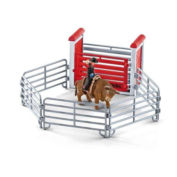 Schleich toys Schleich Bull Riding with Cowboy Figure
