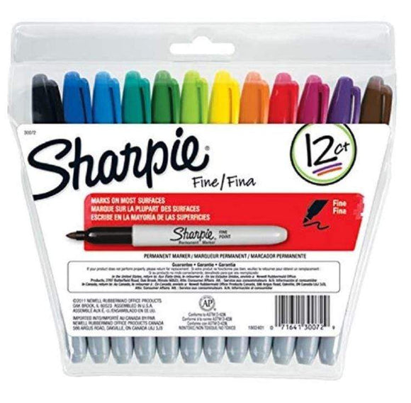 Sharpie Back to School Sharpie 12-Piece Permanent Markers Multicolour