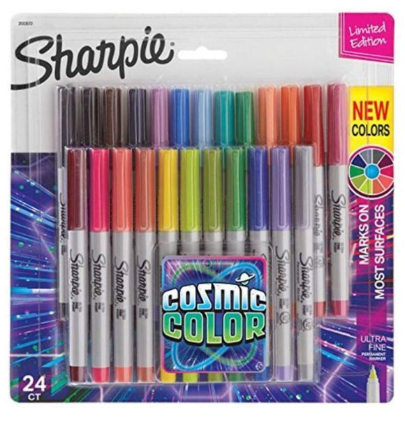 Sharpie Back to School Sharpie 24-Piece Permanent Marker Set Cosmic Colours