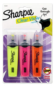 Sharpie Back to School Sharpie 3-Piece Chisel Tip Highlighter Yellow/Pink/Orange