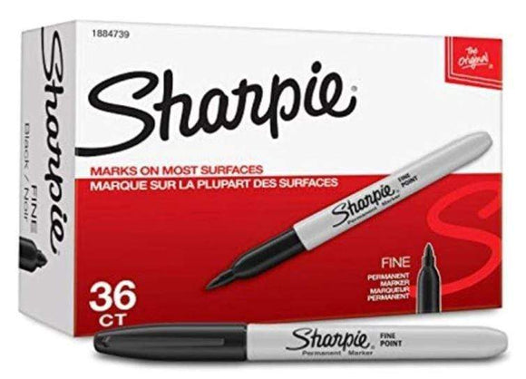 Sharpie Back to School Sharpie 36-Piece Permanent Marker Pen Set Black/Grey