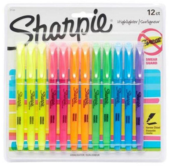Sharpie Back to School Sharpie Pack Of 12 Highlighter Pens Multicolour
