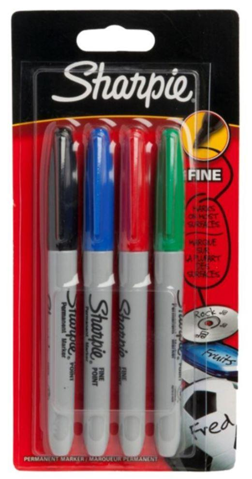 Sharpie Back to School Sharpie Pack Of 4 Permanent Marker