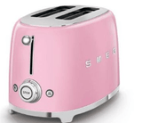 Smeg Appliances Smeg - 2 Slice Toaster, TSF01PKUK