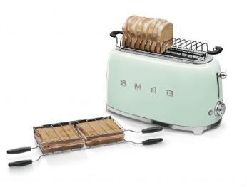Smeg Appliances Smeg - 4 Slice Toaster, TSF02PGUK