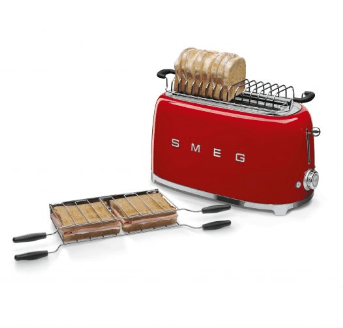 Smeg Appliances Smeg - 4 Slice Toaster, TSF02RDUK