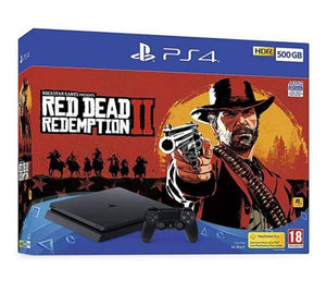 Sony Gaming Console PlayStation 4 Slim 1TB Console With DualShock Controller And Red Dead Redemption 2