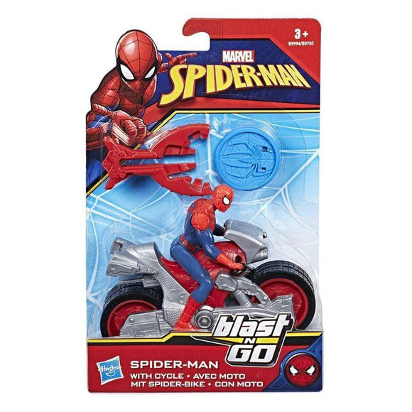 Spider-Man toys Blast N Go Spider-Man with Cycle