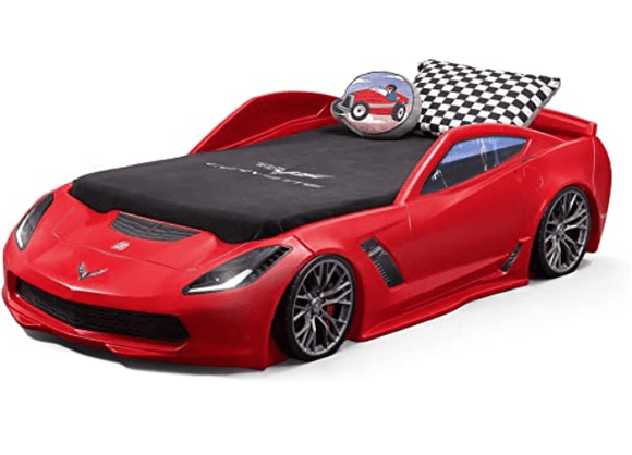 Step2 Toys Step2 Z06 Corvette Toddler-to-twin Bed with Lights