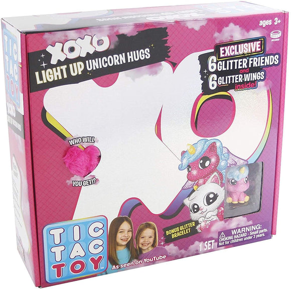Tic Tac Toy's Toys Blip Toys Tic Tac Toy XOXO Pink Light Up Unicorn Hugs & Glitter Friends