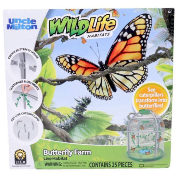 UNCLE MILTON Toys Butterfly Farm Habitat