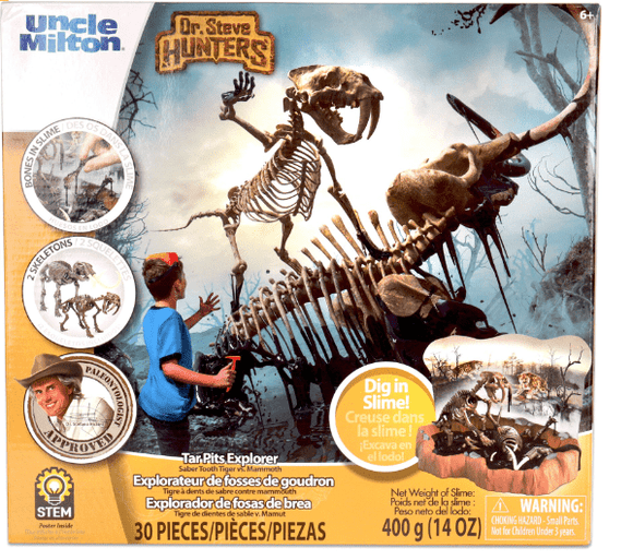 UNCLE MILTON Toys Dr. Steve Hunter Tar Pits Explorer(Saber Tooth Tiger + Mammoth)-91104