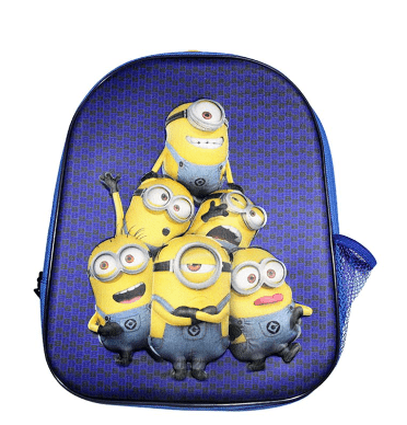 Universal Back to School Minions 3D EVA Embossed Character Kids Backpack - 12 Inch