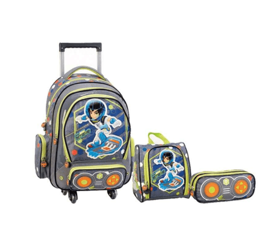 Valojusha Back to School 3-Piece Trolley Backpack Set