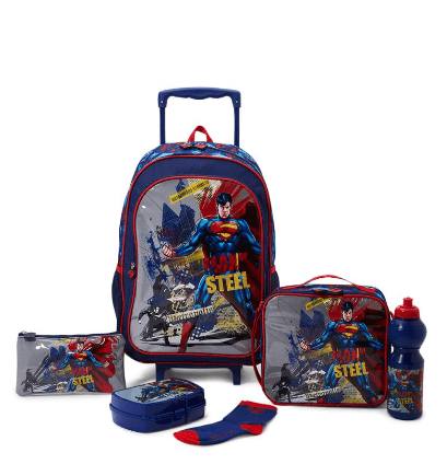 WB Back to School 6 Piece Metropolis Trolley Bag Set
