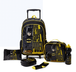 WB Back to School 6 Piece Superman Trolley Bag Set