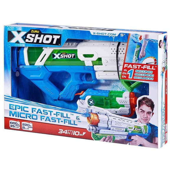 X-Shot Toys X-SHOT- FAST FILL  Combo Pack- Large