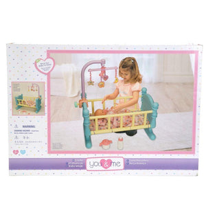 You & Me toys Cradle for Dolls (Blue/Yellow)
