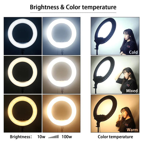Color Temperature of Ring Lights