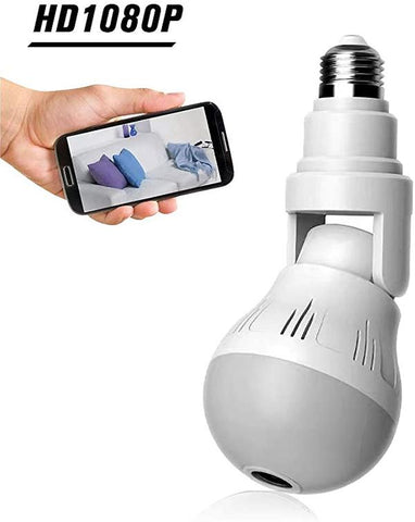White Multi-Directional Security Camera Light Bulb