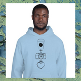 Coffee + Camera Unisex Hoodie - Shutterbug Shop