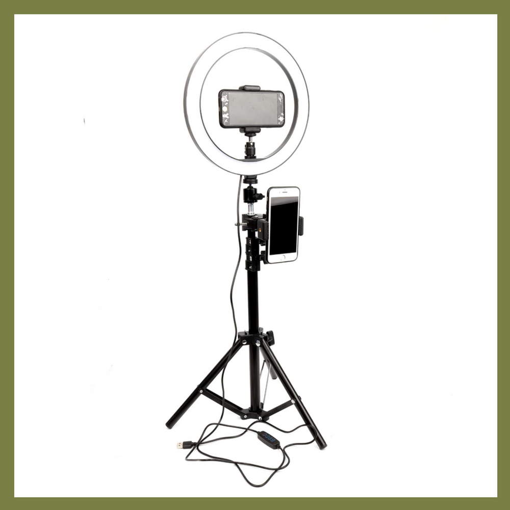 "The ""Essential Series"" 10""/26cm Ring Light with Tripod and 2 Phone Clips - Shutterbug Shop"