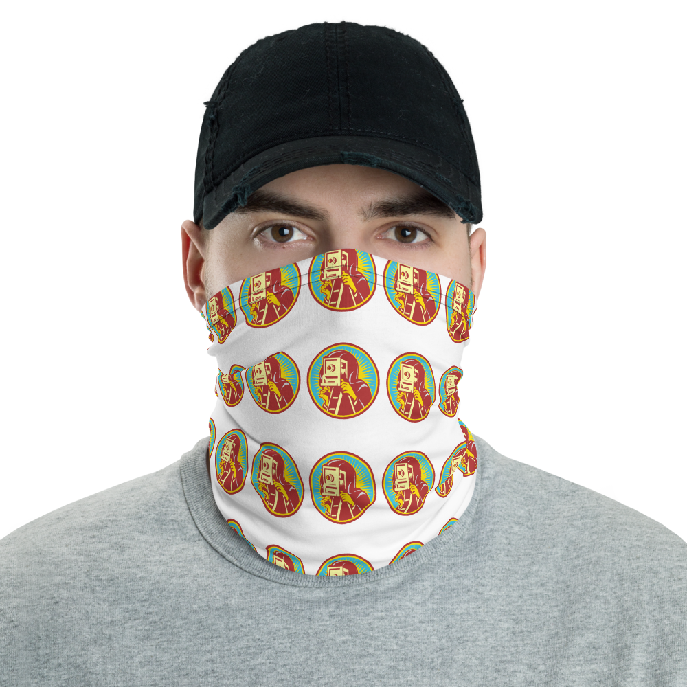 Retro Photographer Neck Gaiter/Face Mask - Shutterbug Shop