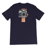 Camera In Hand T-Shirt (double sided print) - Shutterbug Shop
