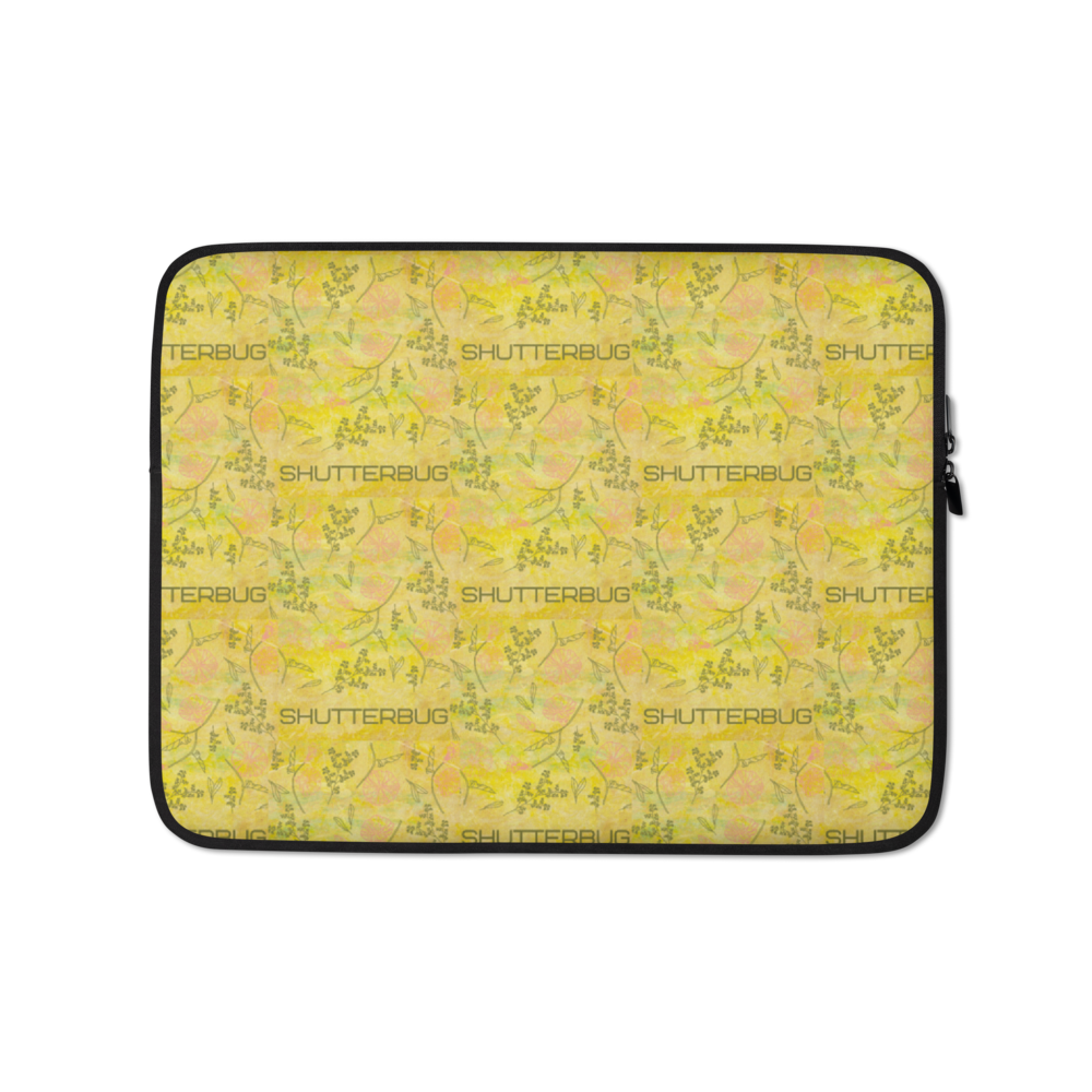 Shutterbug Flowers & Leaves Laptop Sleeve - Shutterbug Shop