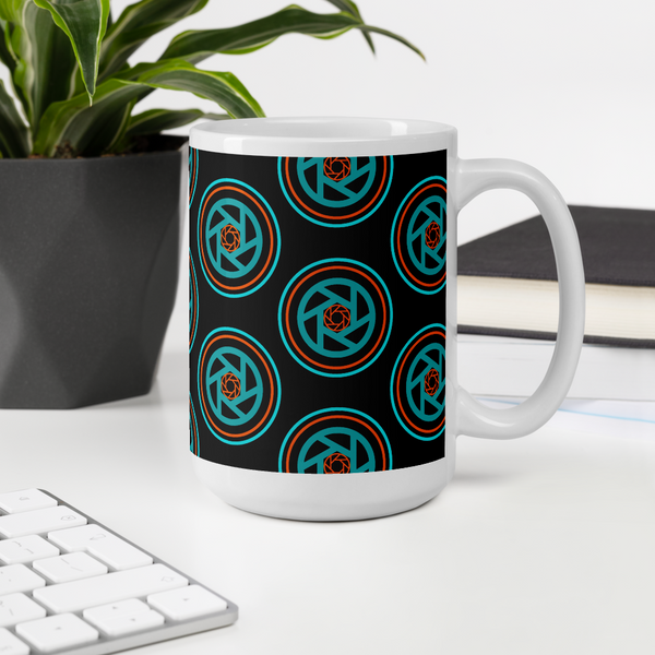 Mug, Circles & Shutters Dark - Shutterbug Shop