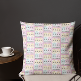 Multi Color Skulls Pattern Premium Pillow - Shutterbug Shop