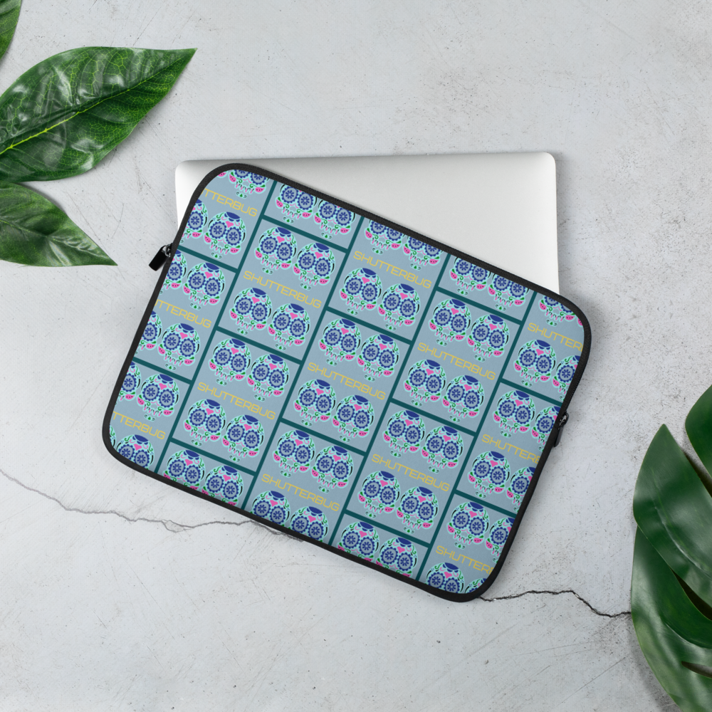 Blue Skulls Laptop Sleeve - Shutterbug Shop