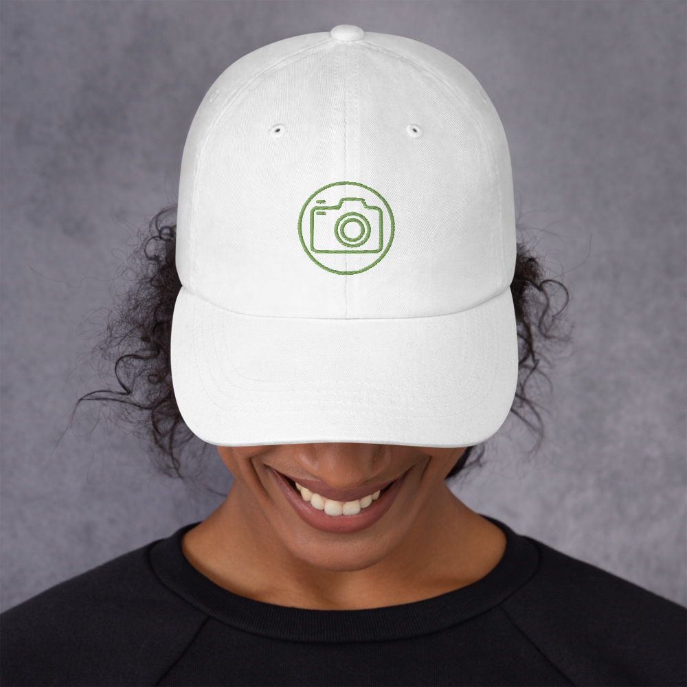 Circled Camera Embroidered Cap - Shutterbug Shop