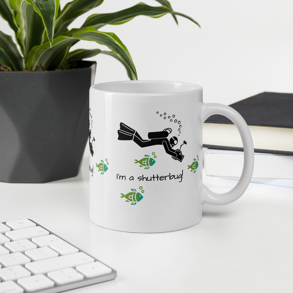 Mug, Diving Photographer - Shutterbug Shop