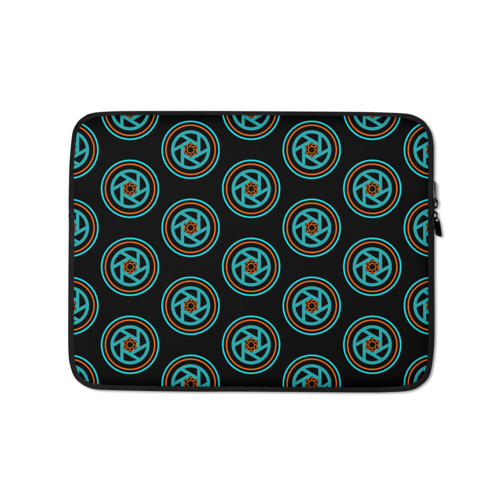 Circles & Shutters Laptop Sleeve - Shutterbug Shop