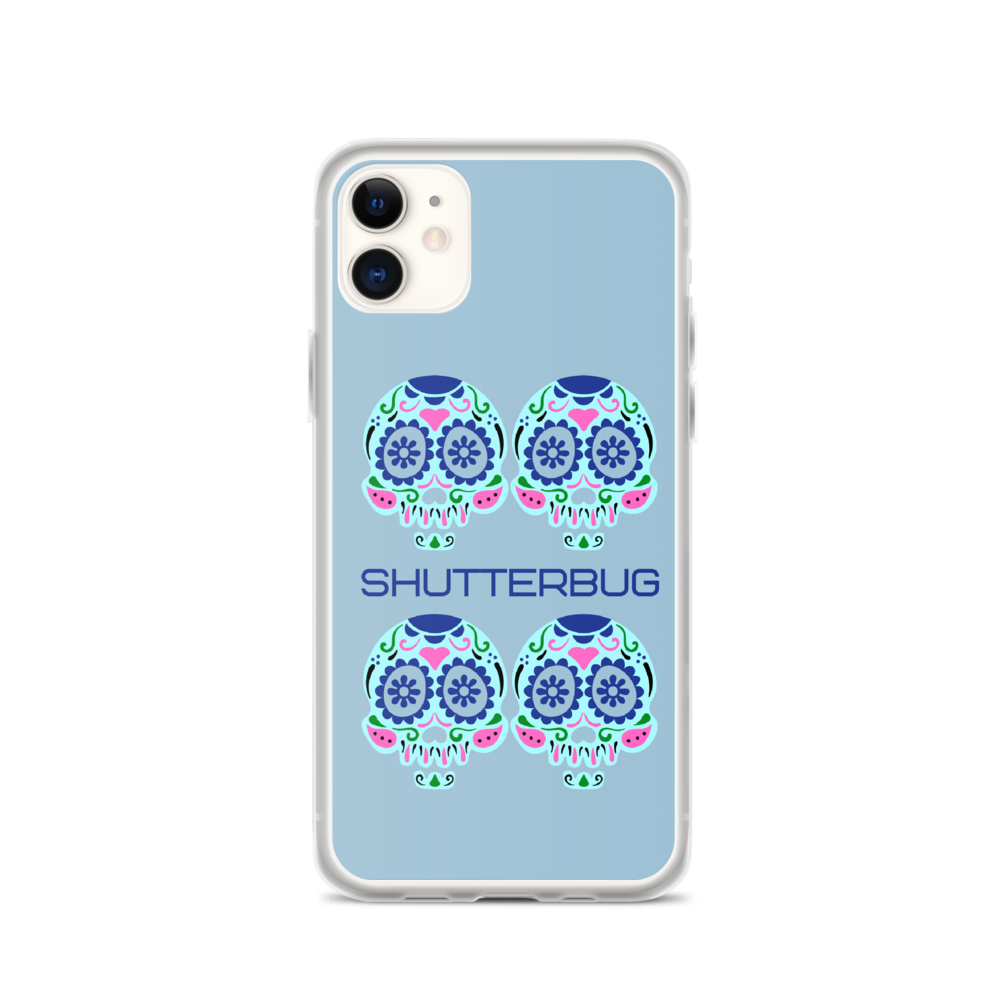 iPhone Case Blue Skulls 11, 11 Pro, 11 Pro Max - Shutterbug Shop