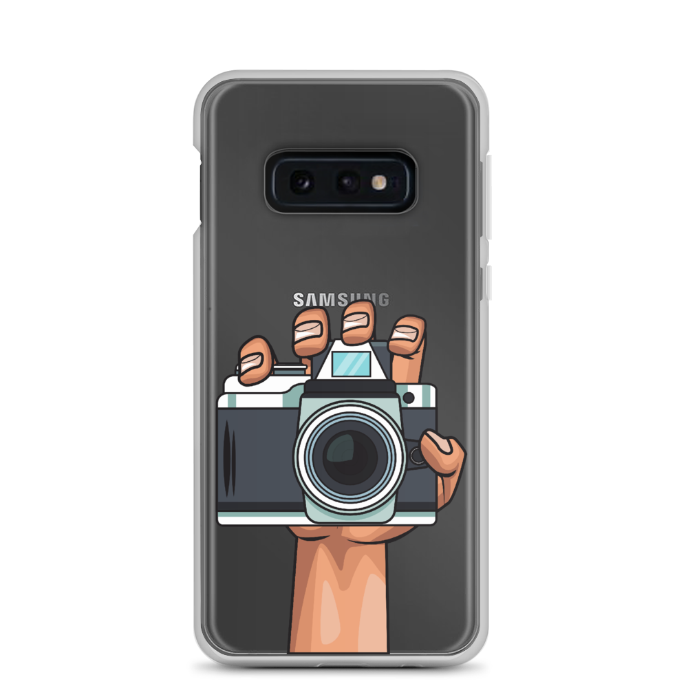 Samsung Galaxy Camera In Hand Phone Case S10, S10+, S10e, S9, S9+ (Transparent) - Shutterbug Shop