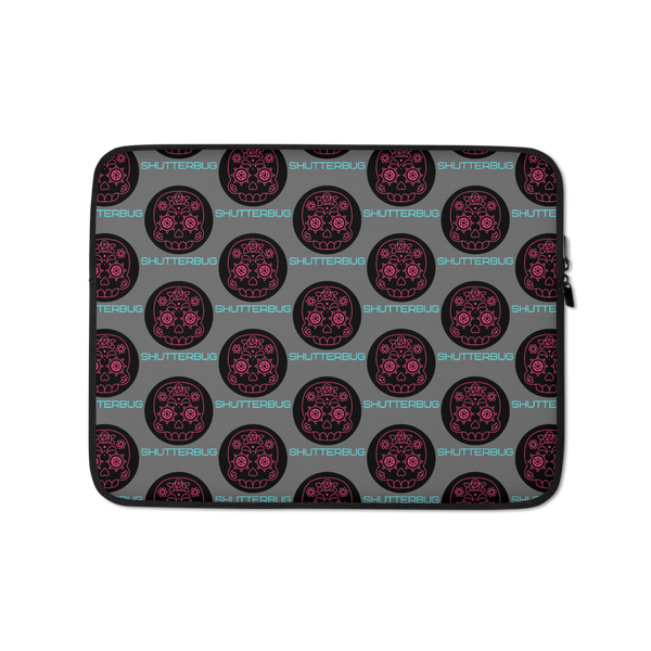 Pink Skull Shutter Eyes Laptop Sleeve - Shutterbug Shop