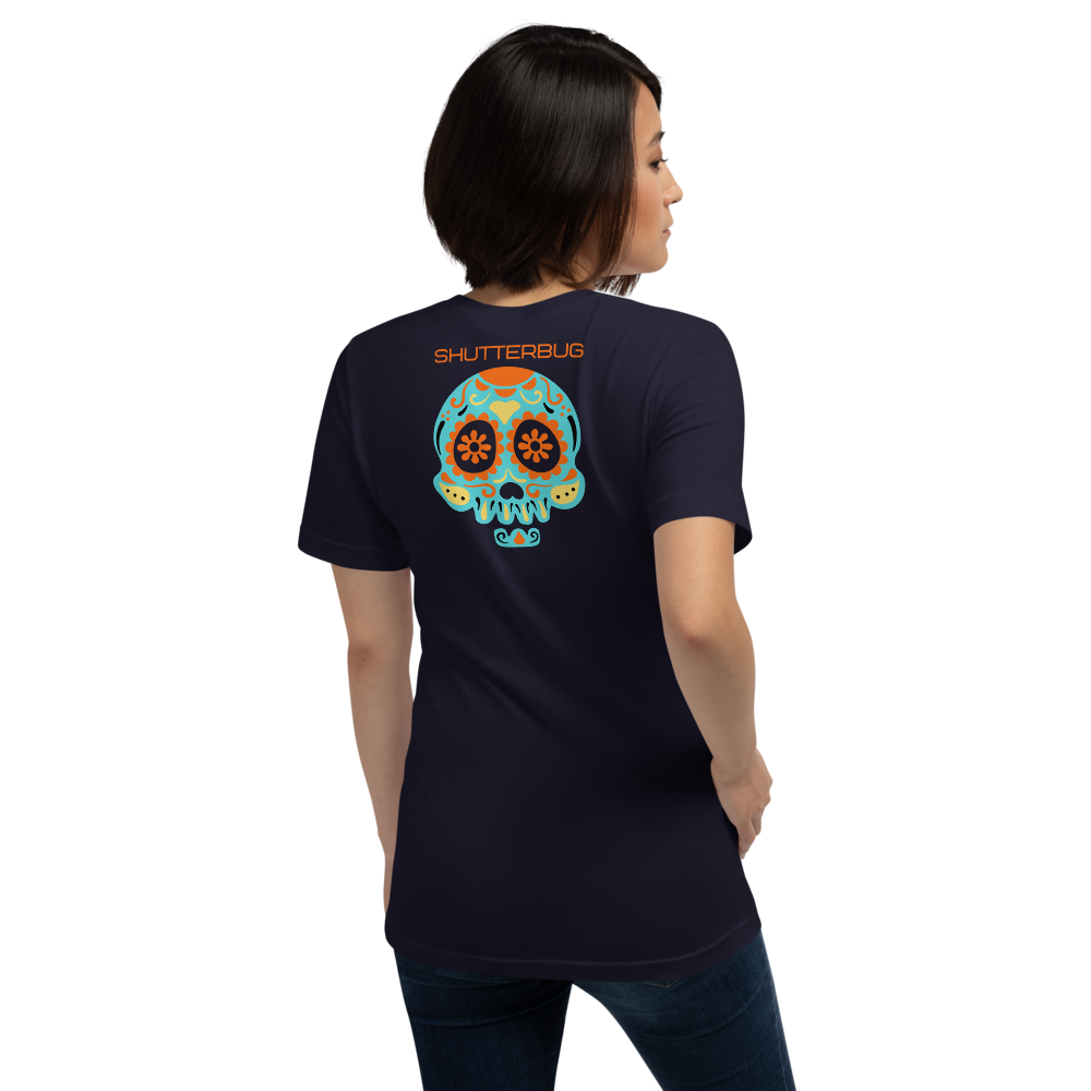Shutterbug Skull T-Shirt (double-sided print) - Shutterbug Shop