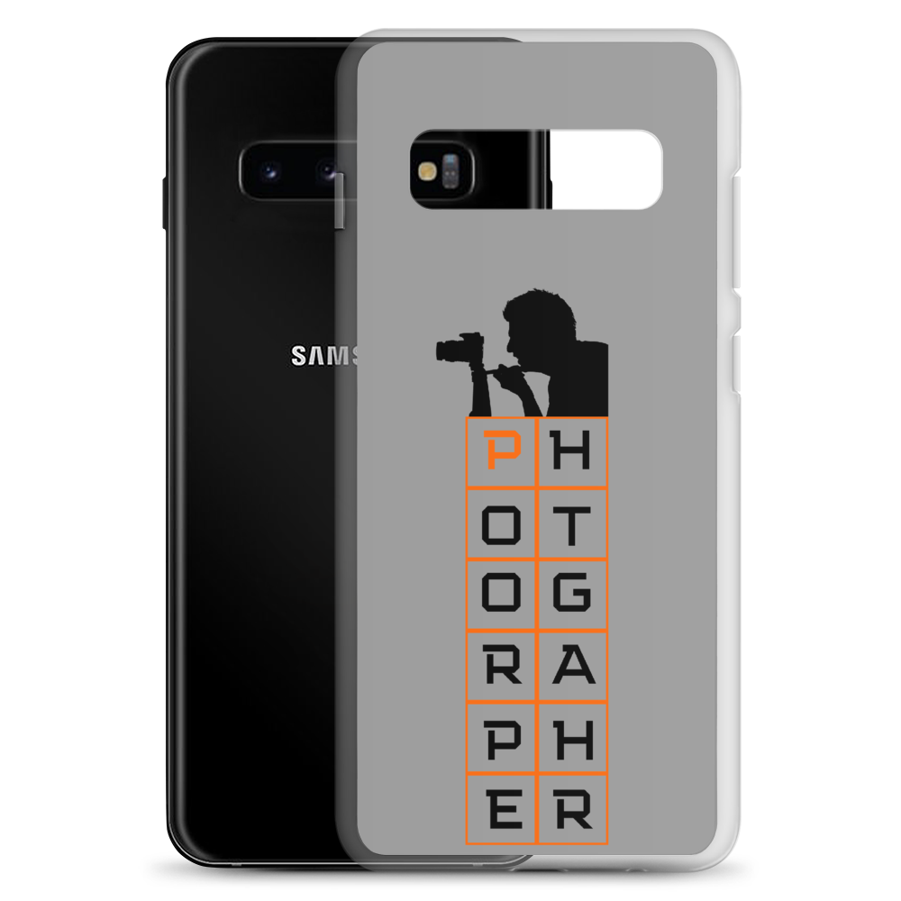 Samsung Galaxy Photographer Silhouette Phone Case S10, S10+, S10e, S9, S9+ - Shutterbug Shop