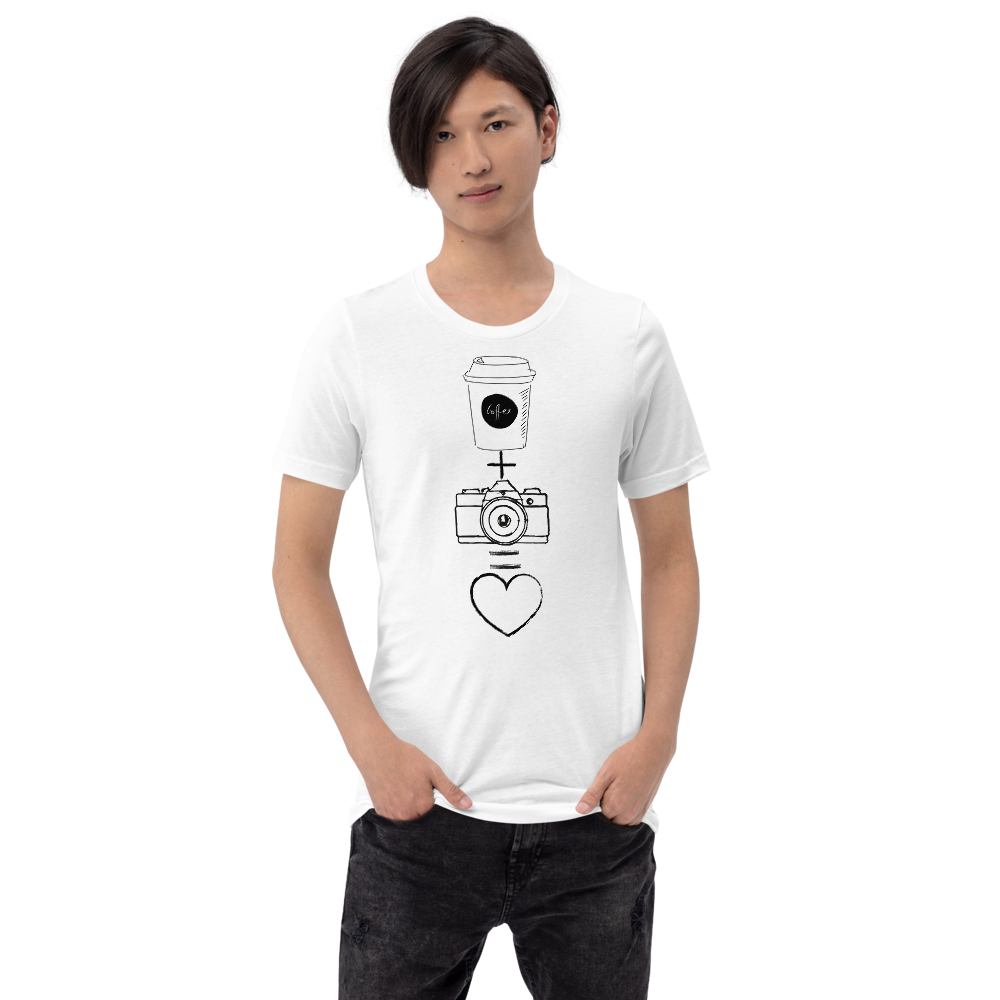 Coffee + Camera T-Shirt - Shutterbug Shop