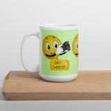 Say Cheese Smiley Face Mug - Shutterbug Shop