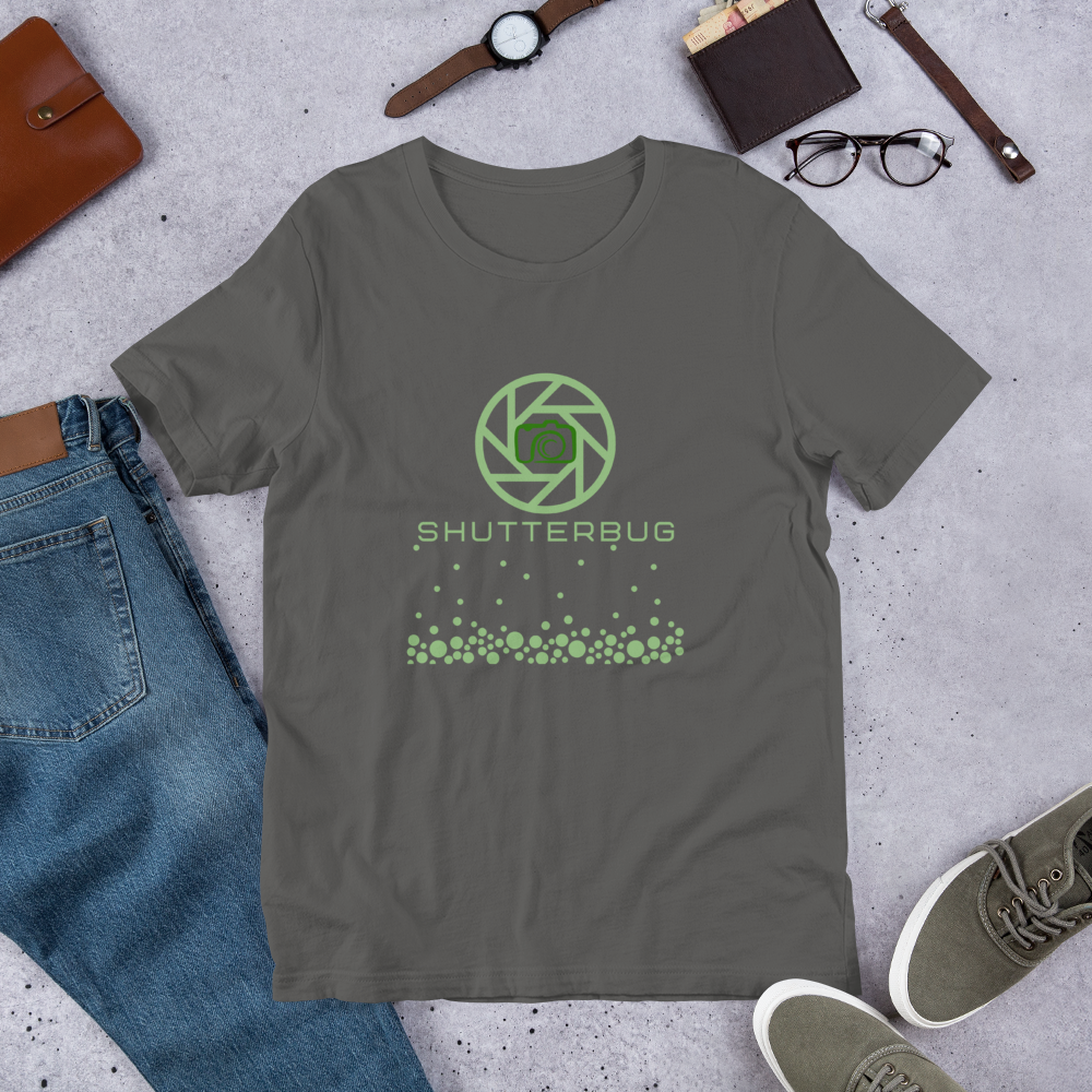 Camera & Shutter T-Shirt - Shutterbug Shop